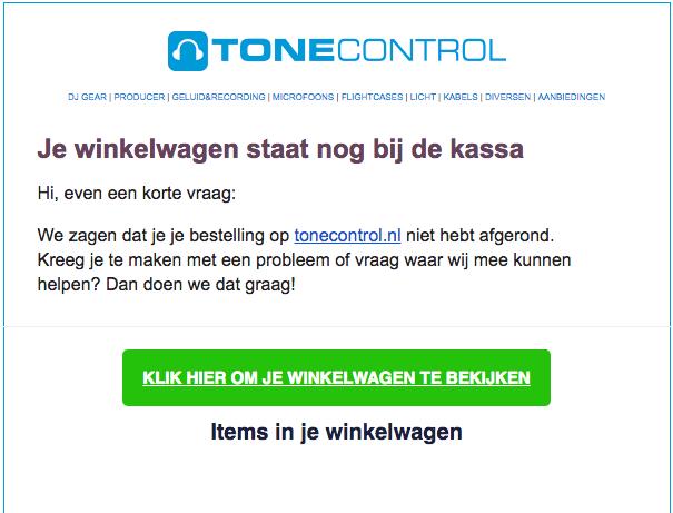 Voorbeeld e-mail ToneControl