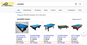 Google Shopping wijzigingen