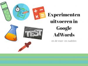 experimenten uitvoeren in AdWords